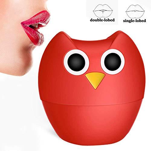 Lip Plumper Enhancer,Owl Silicone Lip Filler Plumping Device Quick Lip Enhancement Enlarger Tool Look Natural Fuller Thicker Sexy (Lip-enhancer-tool)