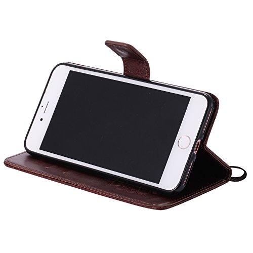 Apple iPhone 7 Plus 5.5 Coque, Voguecase TPU avec Absorption de Choc, Etui Silicone Souple, Légère / Ajustement Parfait Coque Shell Housse Cover pour Apple iPhone 7 Plus 5.5 (Tournesols-Gris)+ Gratuit Tournesols-Marron