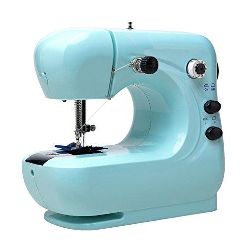 Xuan - worth having Máquina de coser eléctrica para principiantes de hogar Pequeña mesa de escritorio completamente automática ( Color : Azul )
