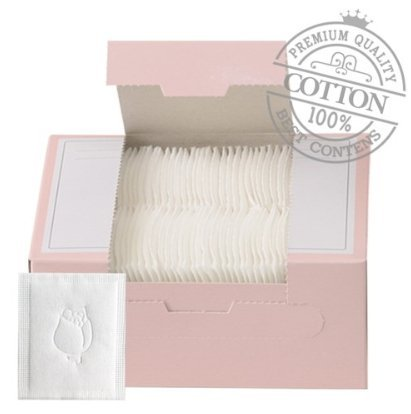 SoonSom Korea Tamponi 100% cotone naturale con motivo rilievo confezione da 100 pezzi