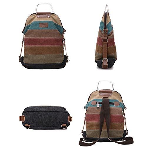JSCY, Borsa a spalla donna multicolore Multi-Color-B Multi-Color-I