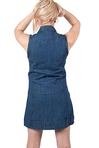 PILOT® mae denim mini robe zip avant toile