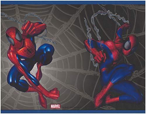 York Wallcoverings Roll-Spiderman auf Web schwarz Marvel Comics Tapetenrand für Kinder, 15' x 7''