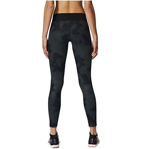 Adidas Long Q2p2, Leggings Donna Multicolore (Print/Nero)