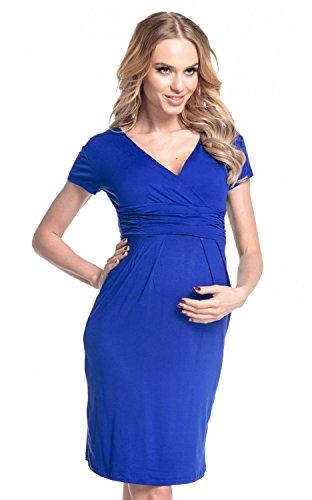 Happy Mama Damen Umstands Kleid Passt In Allen Phasen Der Schwangerschaft 573p Königsblau