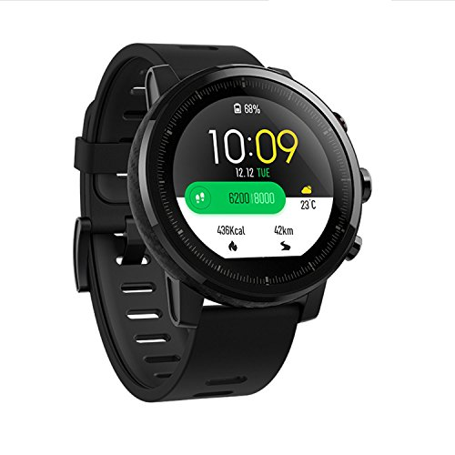 Xiaomi Huami Amazfit Smart Watch Stratos 2 Sports Smartwatch With GPS PPG Heart Rate Monitor 5ATM Waterproof English Version (Push-button Light)