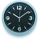 Kela 17162 Berlin - Reloj de pared con esfera (plástico, 20 cm), color negro