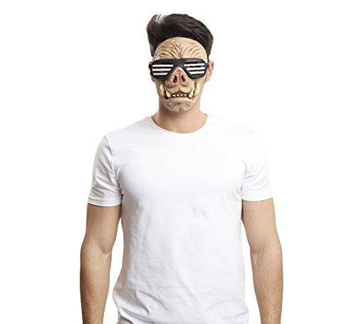 viving Kostüme viving costumes203603biker-pig Maske (One Size) (Simba Erwachsene Kostüme)