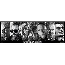 Póster Sons of Anarchy/Hijos de la Anarquía Colaje (91,5cm x 30,5cm) + 1 paquete de tesa Powerstrips® (20 tiras)