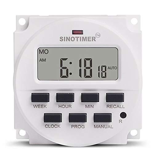 SINOTIMER TM618N-4 12V Programmierbare Zeitschaltuhr mit Countdown Zeitfunktion -