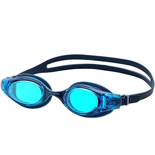poqswim Aqua Swim Schwimmbrille psc3300Sphere Schwimmbrille Clear Lens Navy Blue