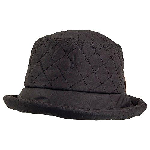 1b8c67399d19e Village Hats Sombrero de pescador acolchado de Scala - Negro - Talla única