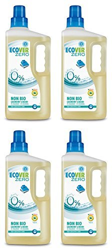 (4 Stück) - Ecover Zero - Zero Laundry Liquid | 1500 ml | 4 Pack Bundle