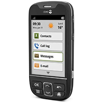 doro phone easy 740 t l phone portable d bloqu noir high tech. Black Bedroom Furniture Sets. Home Design Ideas