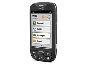 Doro PhoneEasy 740 GSM-Smartphone (8,1 cm (3,2 Zoll) Touchscreen, 5 Megapixel Kamera, Android 2.3, USB 2.0)
