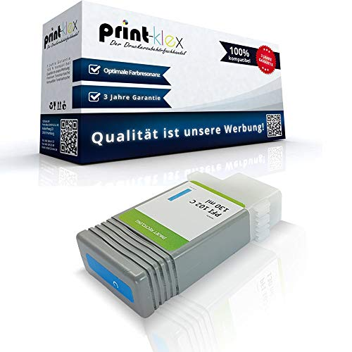 Ipf Serie (Kompatible Tintenpatrone für Canon imagePROGRAF IPF750 imagePROGRAF IPF 750MFP imagePROGRAF IPF750 MFPM40 imagePROGRAF IPF 750 Series 0896B001 PFI-102C Blau Cyan - Easy Line Serie)