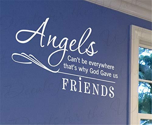 wandaufkleber baby sprüche Engel können nicht überall sein, deshalb gab Gott uns Freunde für das Schlafzimmer im Wohnzimmer