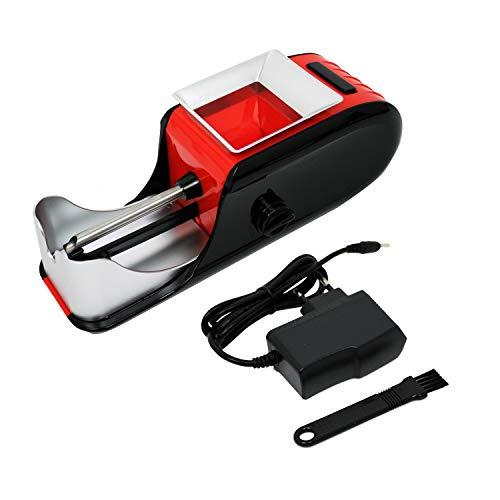 CHAMP - Tubeuse Electrique - Machine à Rouler Les Cigarettes – Format Compact – avec Une Prise de Secteur - Plastique - Rouge