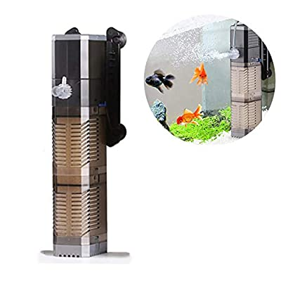 DJLOOKK Filtre Intérieur pour Aquarium Réservoir De Poissons Pompe À Eau 3-en-1 Pompe Submersible Pompe À Eau pour Réservoir De Poissons 7W 8W 20W 25W Convient Aux Petits Et Moyens Aquariums