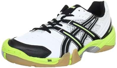 Asics GEL-DOMAIN E216Y Herren Handballschuhe, Weiß (White/Black/Lime 0105), 50.5