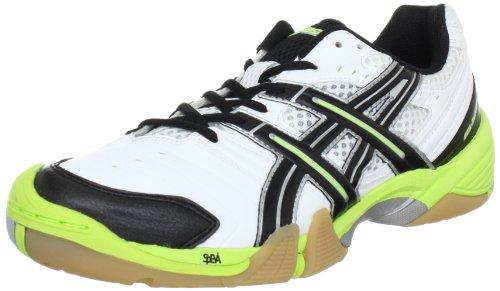 Asics GEL-DOMAIN E216Y, Herren Handballschuhe, Weiß (White/Black/Lime 0105), EU 46.5 (US 12)