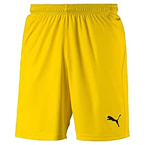 Puma Men's LIGA Shorts Core Training, Cyber Yellow Black, S