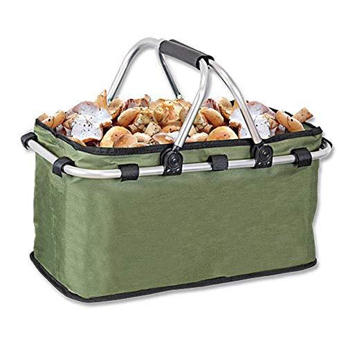 Cesta multiusos plegable especial para setas y recolección de frutos gracias a su fondo transpirable. Dimensiones plegada: 48x26x5 cm Dimensiones abierta: 48x26x22 cm