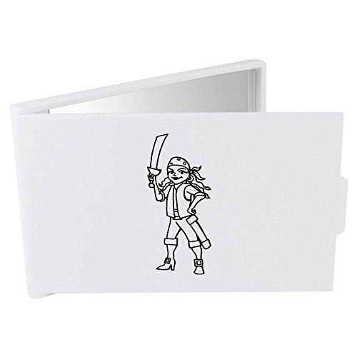 'Weiblicher Pirat' Taschenspiegel / Kosmetikspiegel (CM00001564)