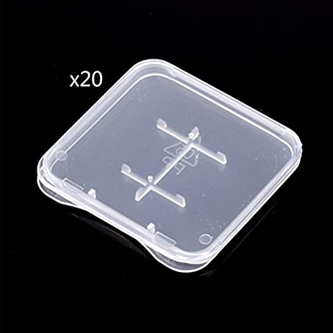 Zhhlinyuan Carrying Protective Protecteur Clear Plastic TF Card Storage Case Box Anti-shock Storage Protector