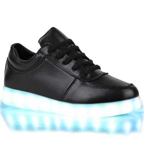 [Present:kleines Handtuch]JUNGLEST Blinkende Damen Sneakers High Led Light Far Schwarz