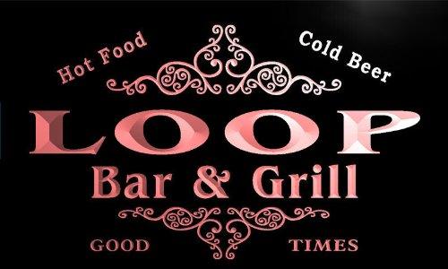 u26992-r LOOP Family Name Bar & Grill Home Beer Food Neon Sign Barlicht Neonlicht Lichtwerbung Food Loop