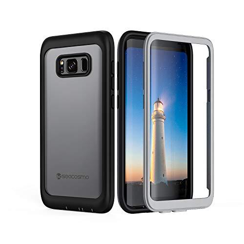 seacosmo Galaxy S8 Plus Hülle, [360 Grad] vollschutz Handyhülle Fallschutz Clear Cover mit integriertem Displayschutz Schutzhülle, Schwarz