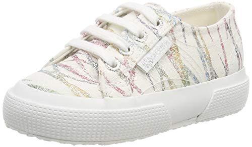 Superga 2750-glitterybamboopolesj, sneaker bambine e ragazze, bianco (white/multicolor 938), 24 eu