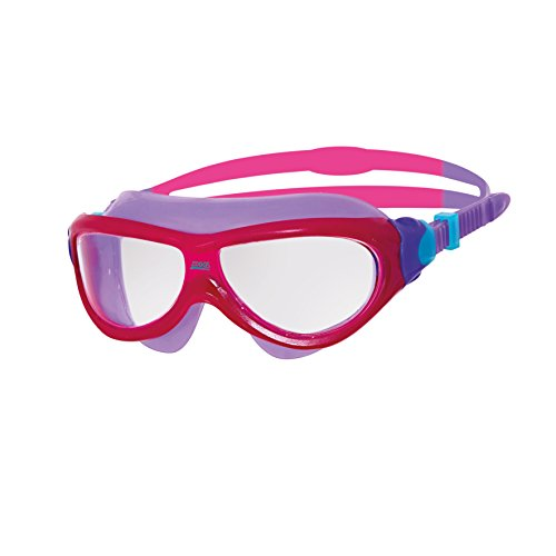 Zoggs Kinder Phantom Jnr Mask Schwimmbrille, Pink/Purple/Clear, One Size