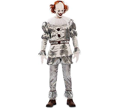EUROCARNAVALES, SA Teuflischer Clown Kostüm für Erwachsene M/L (Teuflische Kostüm)