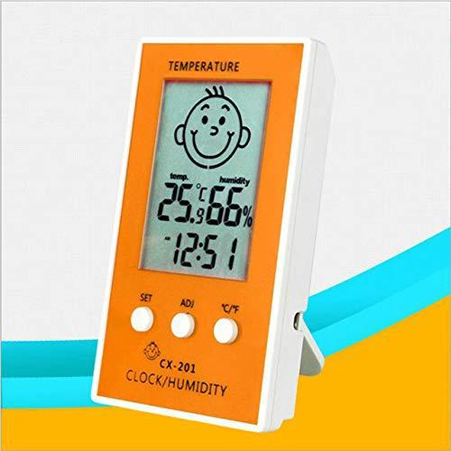 Lcd Termómetro digital Higrómetro Bebé Sonrisa Llorando Higrómetro Estación meteorológica Probador...