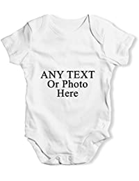 6017f3b90 TWISTED ENVY Personalised Design Your Own Wording Photo Baby Unisex Funny  Cute Infant Bodysuit Baby Grow…