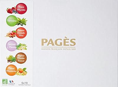 Pagès Coffret en carton d'infusions Bio 60 sachets