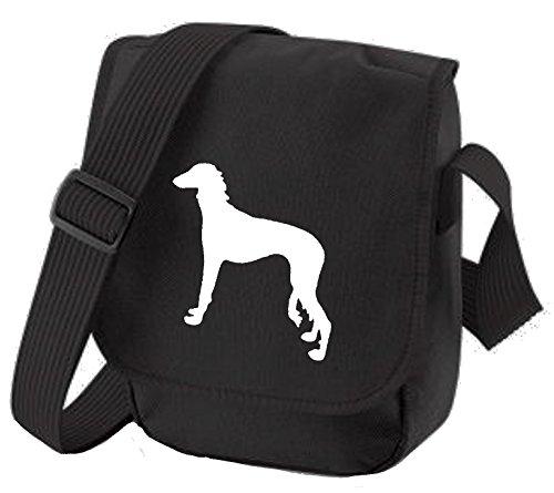 Bag Pixie ,  Unisex Erwachsene Umhängetaschen White Dog Black Bag