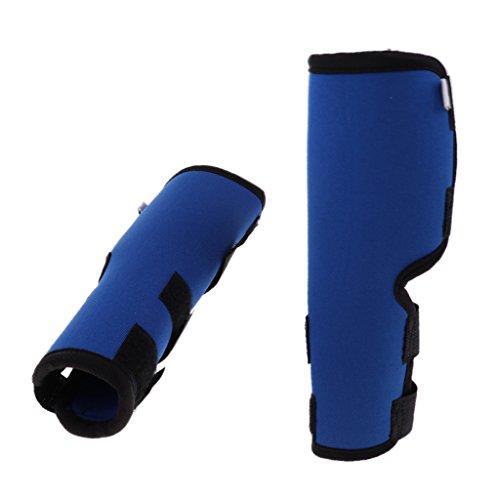 2pcs Hunde Kniebandage Gelenkbandage aus Neopren für Vorder- oder Hinterbein - Blau L