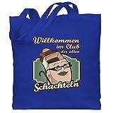Shirtracer Geburtstag - Willkommen im Club der alten Schachteln - Unisize - Royalblau - WM101 - Stoffbeutel aus Baumwolle Jutebeutel lange Henkel