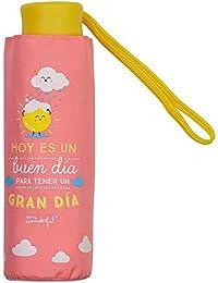 Paraguas plegable Mr Wonderful (Rosa) - Hoy es un buen día para tener un