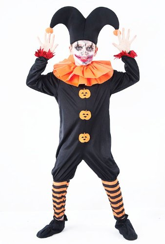 Evil Jester Kinder Kostüm Halloween Kostüm Clown 11-13 (Jester Kostüm Kind Evil)