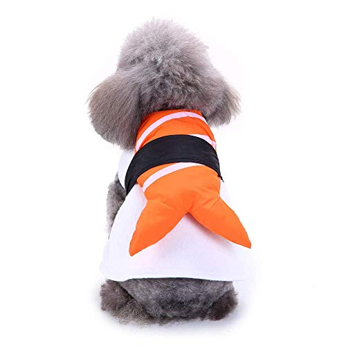 Lustige Kostüm Sushi - QINCH Home Mode Polyester Costume Company Sushi Pet Kostüm Dress Up Lustige Kleidung (Color : Orange, Size : S)