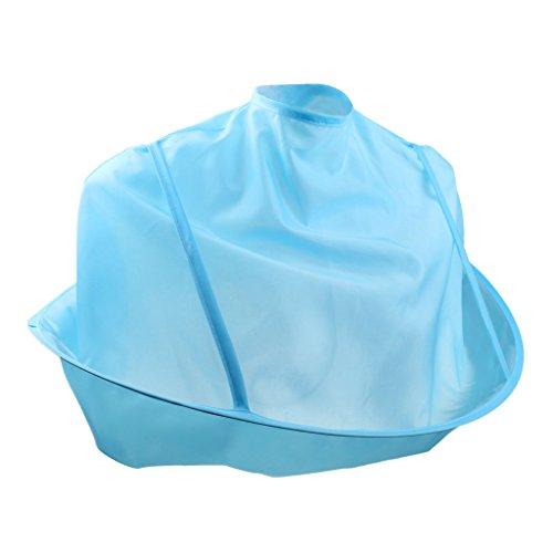 Cape de Coupe Coiffure Enfant Imperméable Tablier Cheveux pour Maison Salons de Coiffure - Bleu, 6-polig 5A