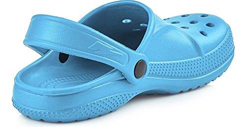 Ladeheid EVA Clogs unisex Bambini KL055 Blu chiaro