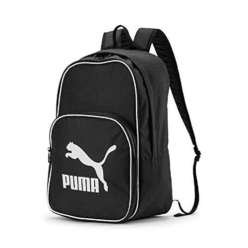 PUMA Unisex- Erwachsene Originals Backpack Retro Woven Rucksack, Black, OSFA