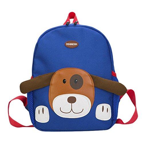 AMUSTER Bébé garçon fille enfant sac dessin animé chien modèle dessin animé sac à dos enfant sac (C)