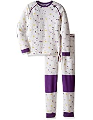 Helly Hansen K Hh Lifa Merino Conjunto Deportivo, Niños, Blanco (White / Sb Purple Print), 116/6