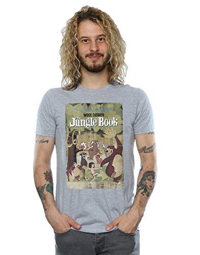 Disney Men's Jungle Book Retro Poster T-Shirt